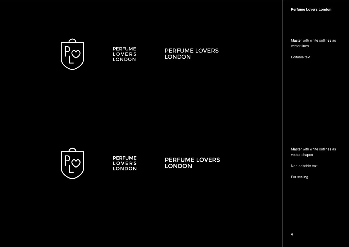 Perfume Lovers London logo refinement